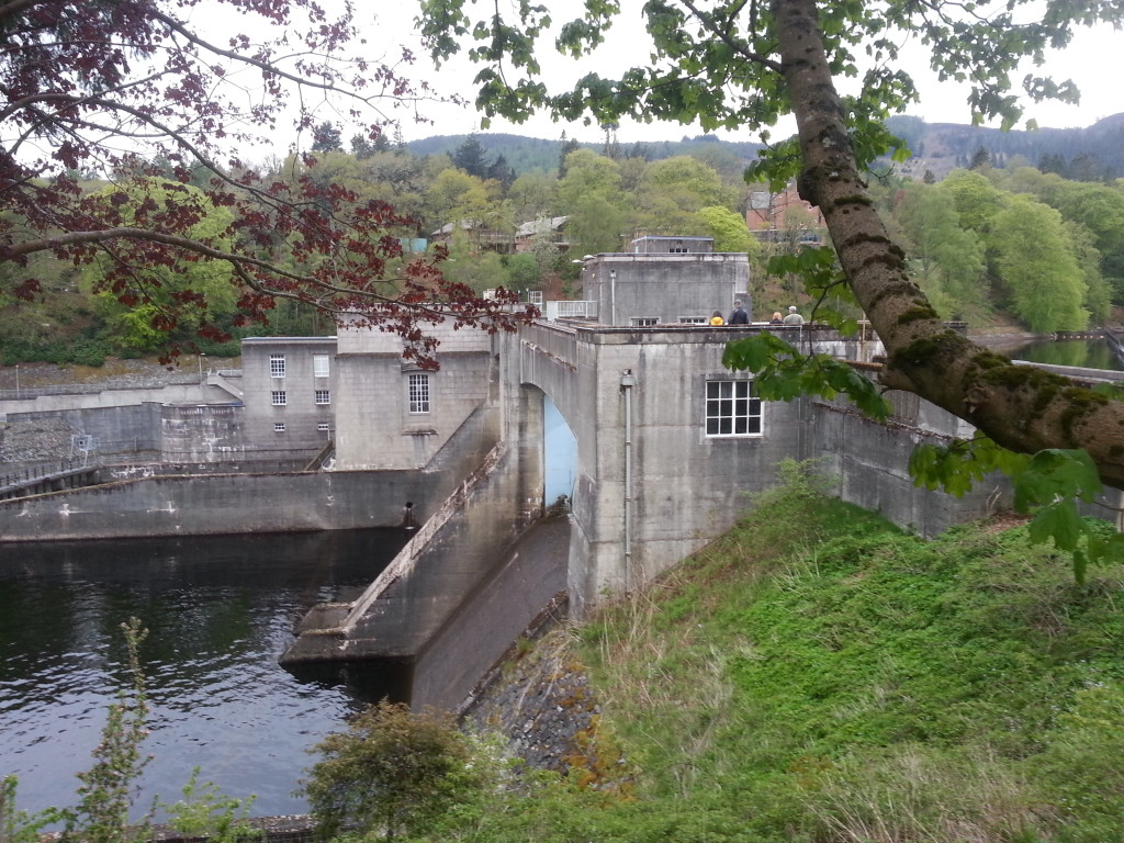 Pitlochry dam and fish ladder