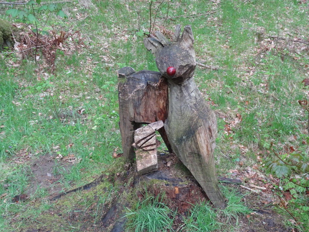 Cute little reindeer sculpture, Faskally Wood