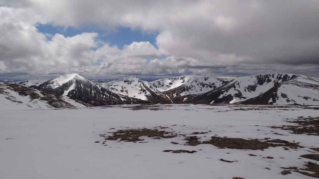 Lovely view from Ben MacDui. 1309m