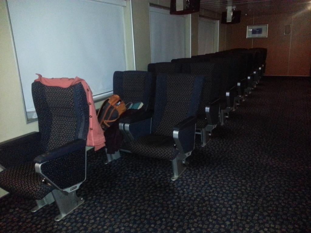 Cinema room on board the ferry
