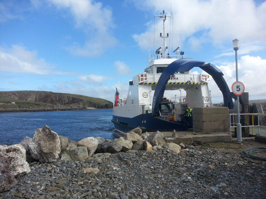 One of the two ferries to Unst