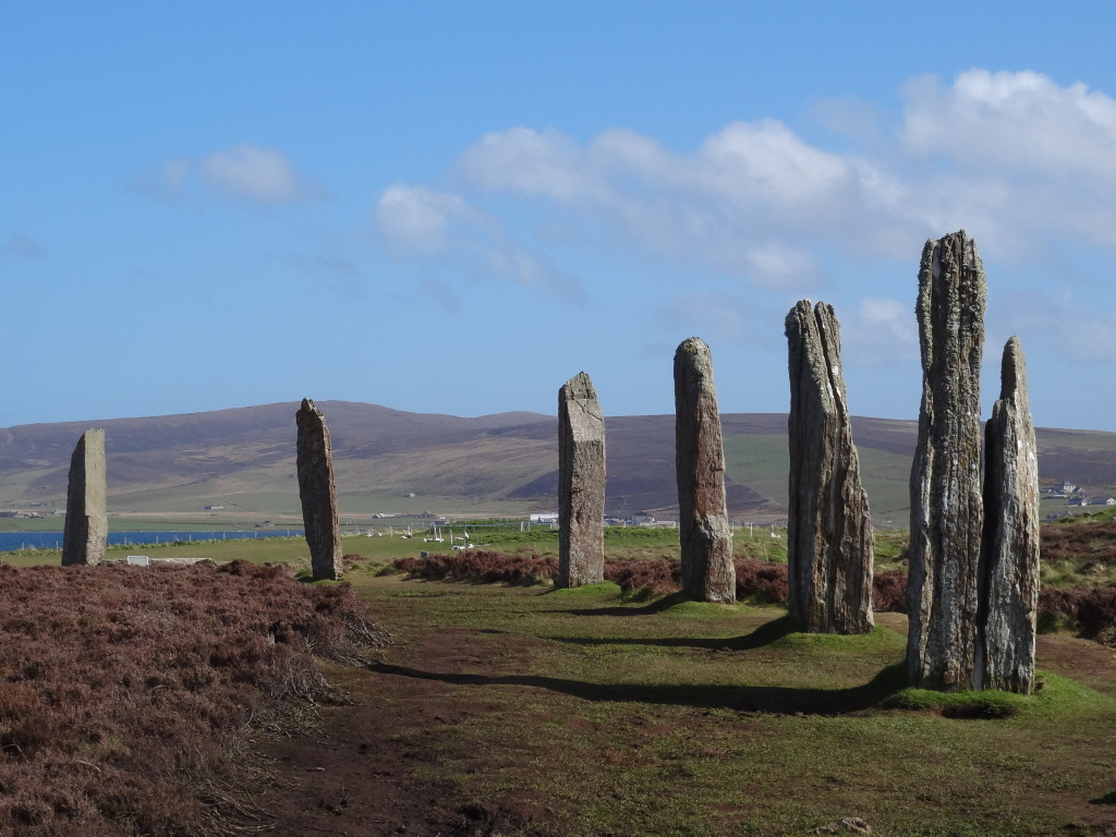Some of the stones comprising the Ring of Brodgar