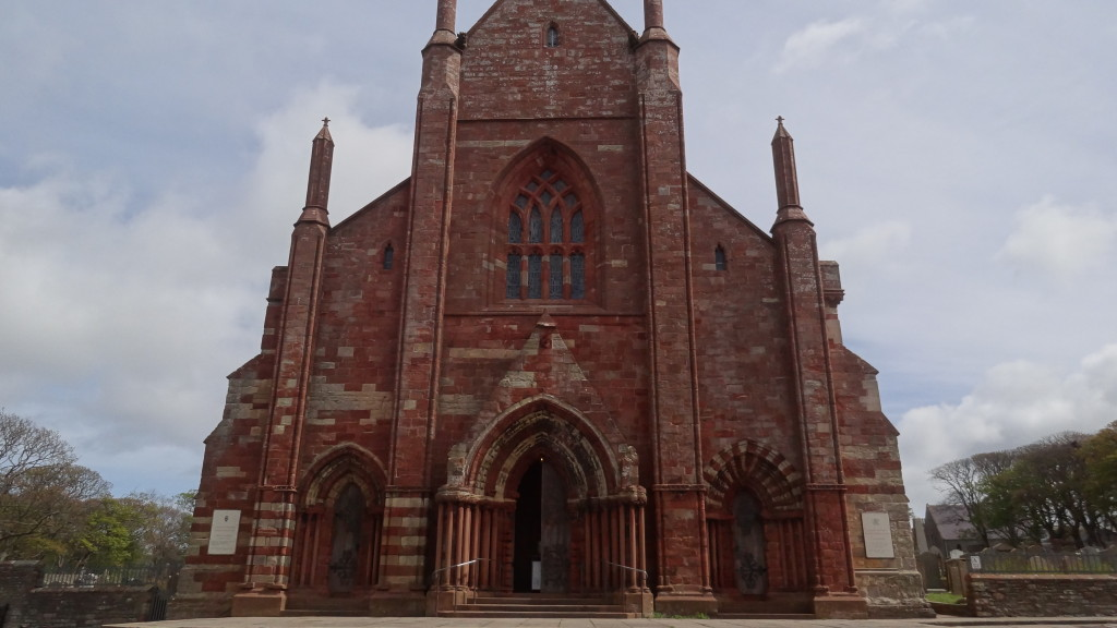 St Magnus Cathedral made with red bricks