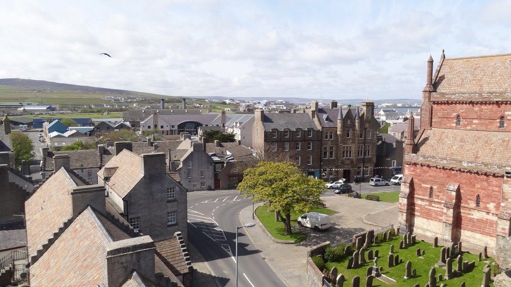 Lerwick viewed from the top of Earl's Palace
