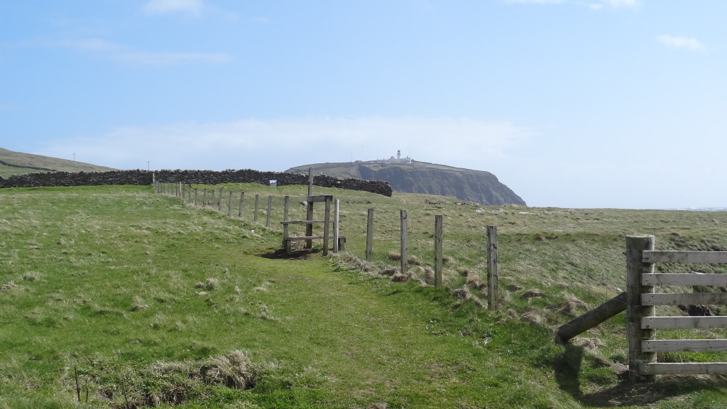 Fenced bull area to go through in order to get to the lighthouse