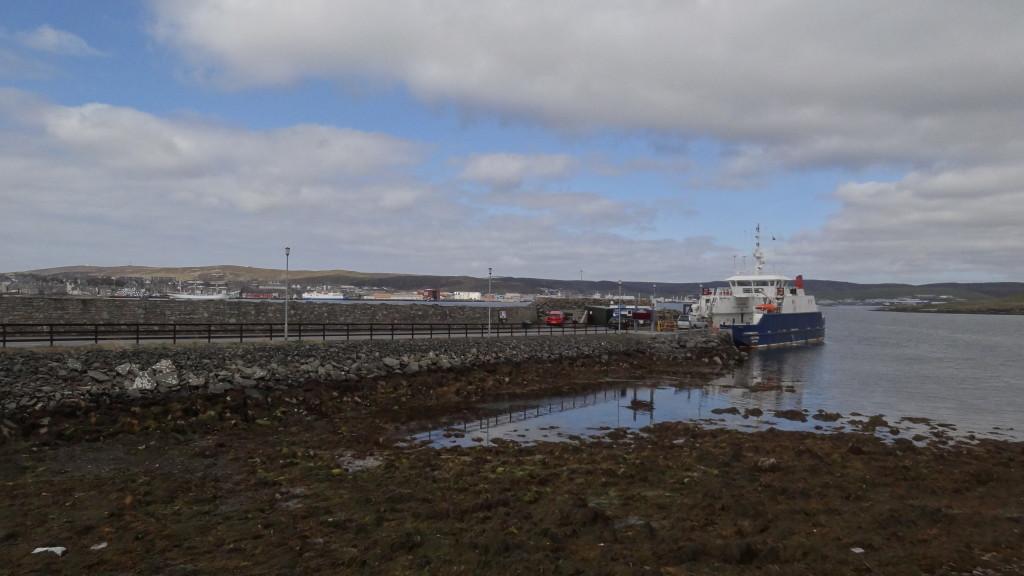 Ferry arriving in Bressay