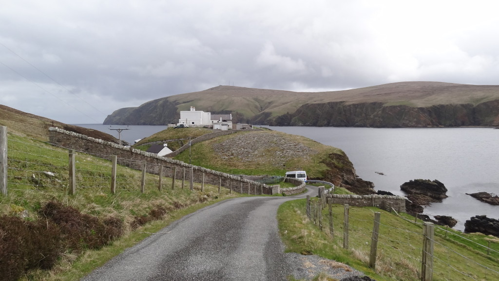 small road leading to the visitor centre