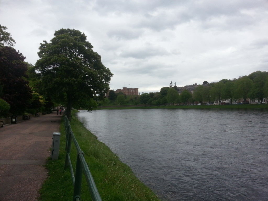 River Ness and walking path next to it