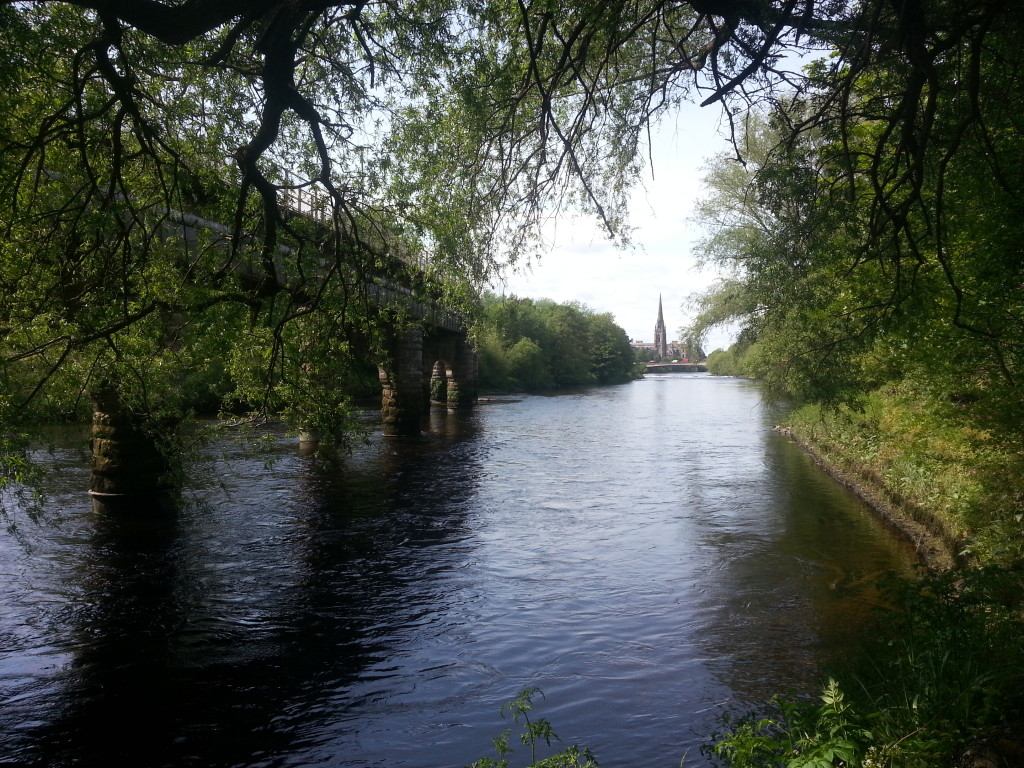 Railway bridge and river Tay