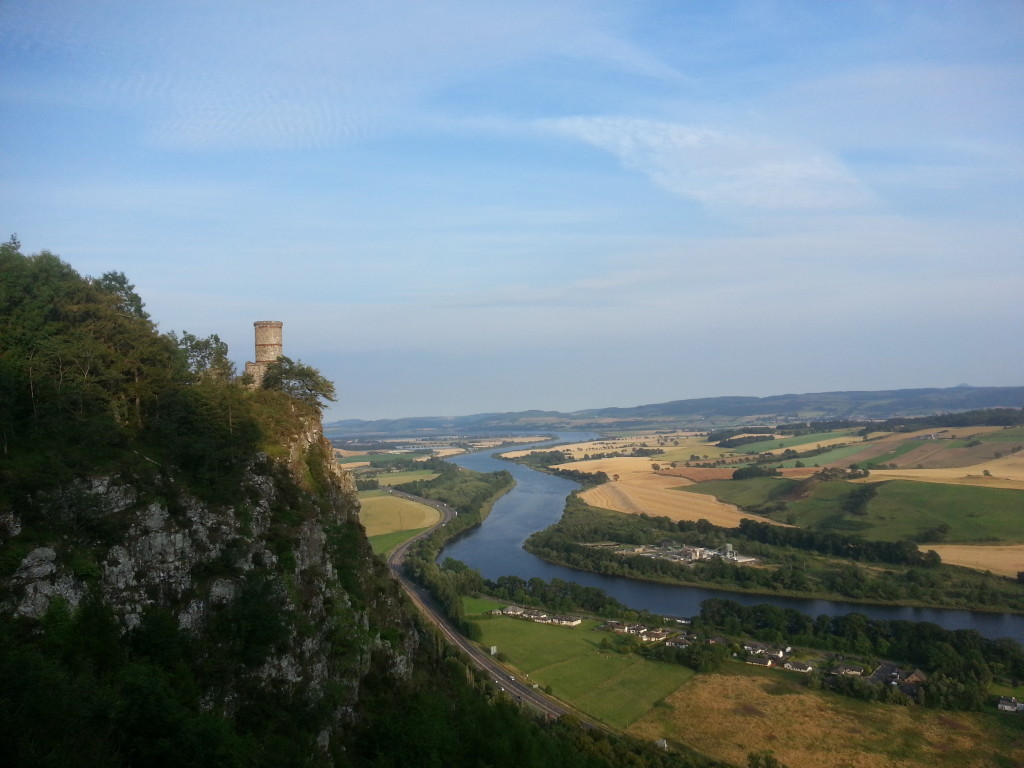 View of the tower overlooking the river