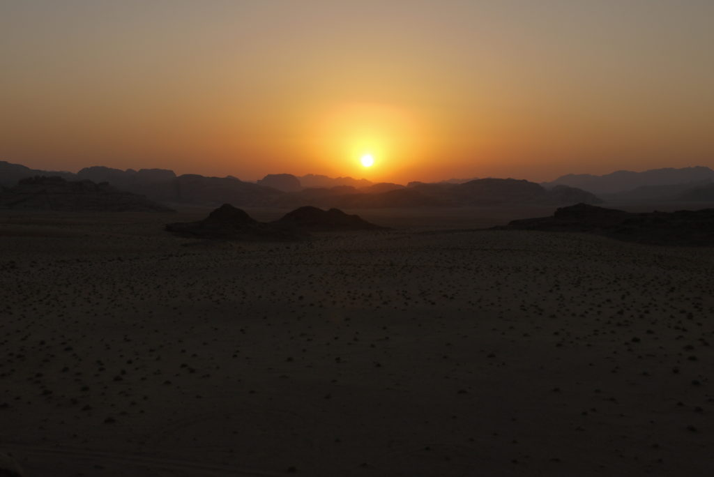 Lovely sunset over Wadi Rum