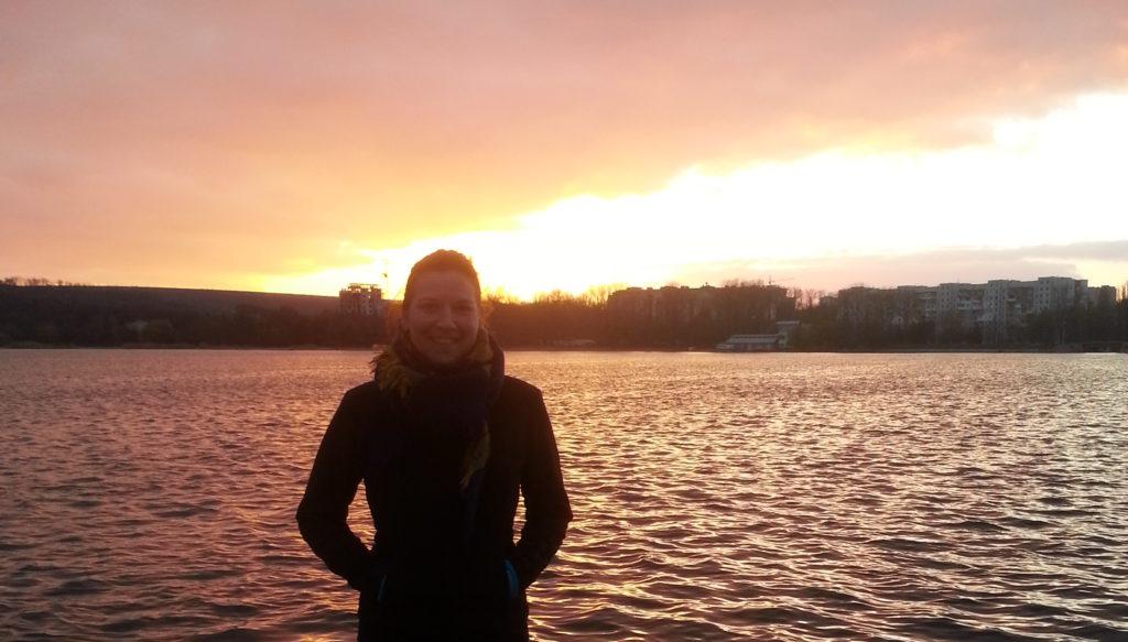 Enjoying the sunset in Valea Morilor, Chisinau