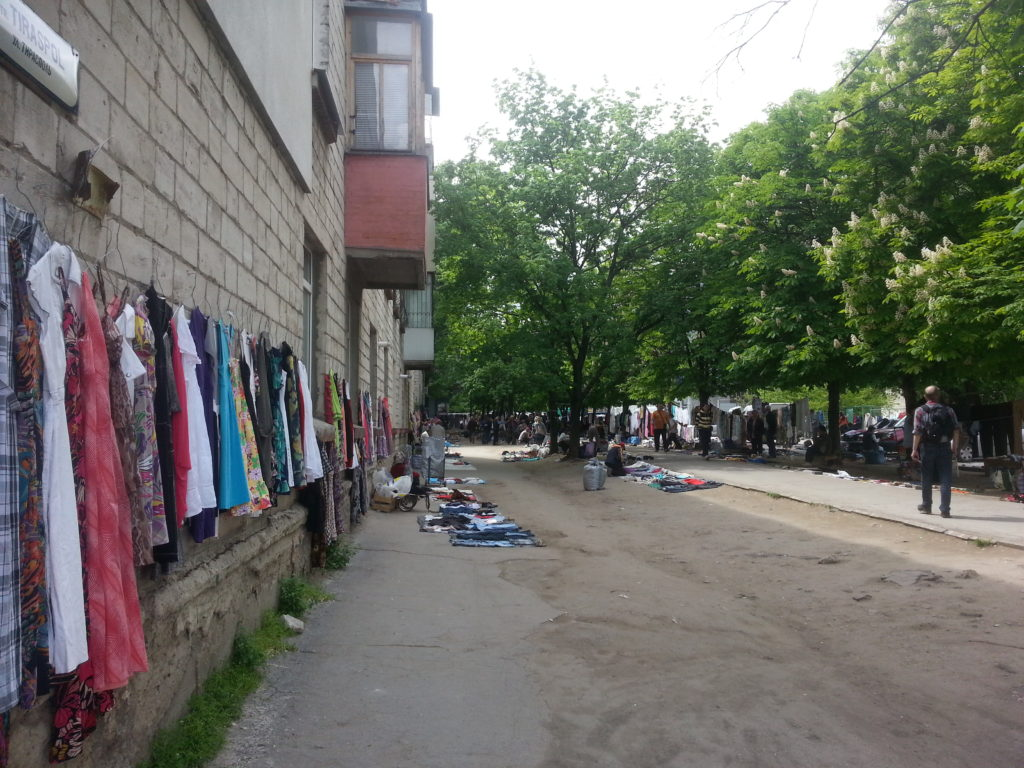 Unofficial market, next to the train station in Chisinau