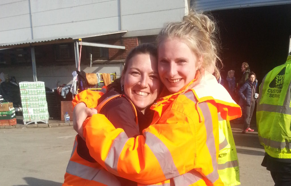 Warehouse managers team. Amazingly strong and inspiring Lauren.