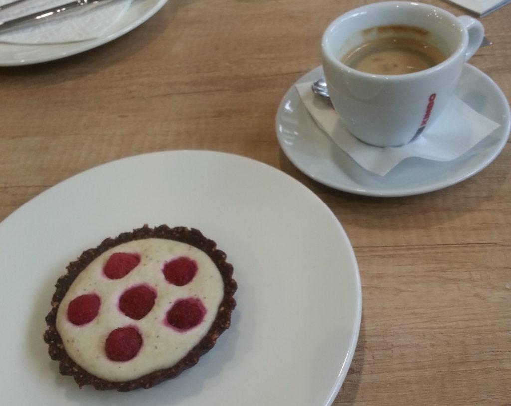 Delicious raw vegan cake from the Raw Vegan Café in Chisinau, Moldova