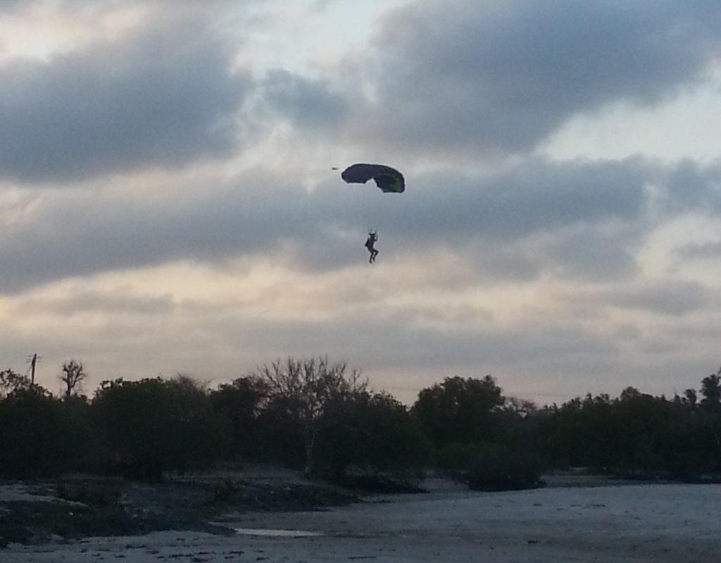 River mouth landing