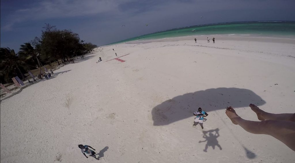 Already time to land on Diani Beach