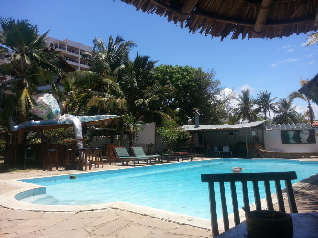 Pool in Tulia Backpackers in Mombasa