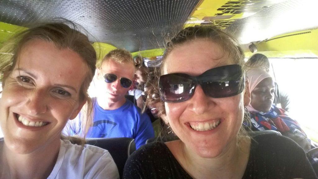 Sweaty in a matatu