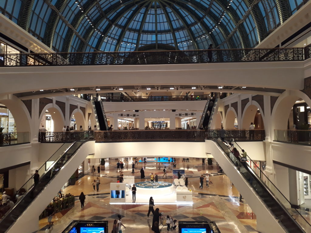 inside the Mall of the Emirates