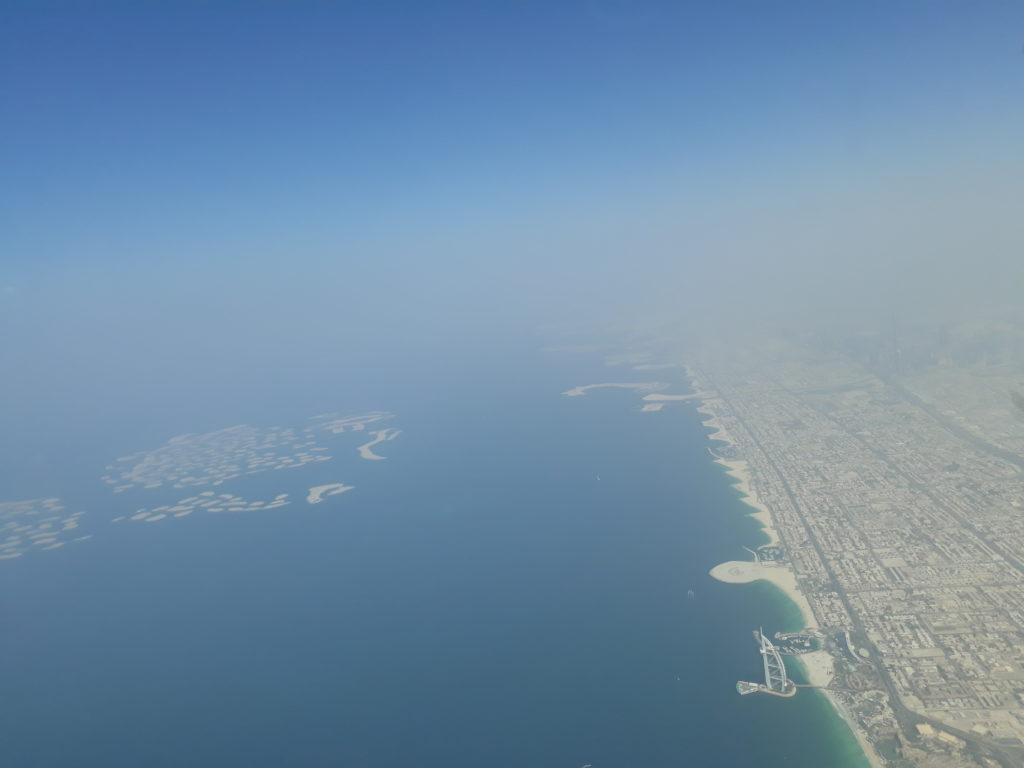 view of the World islands in Dubai